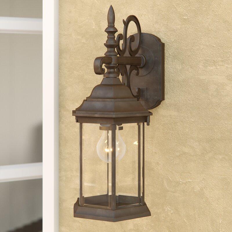 Alcott Hill Savanna 1-Light Outdoor Wall Lantern & Reviews | Wayfair
