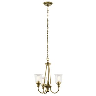 Marseilles 3-Light Shaded Chandelier by August Grove