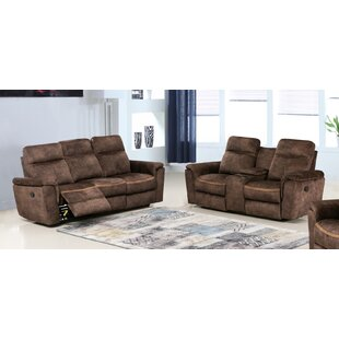 Eucptus Reclining 2 Piece Living Room Set (Set of 2) Red Barrel Studio