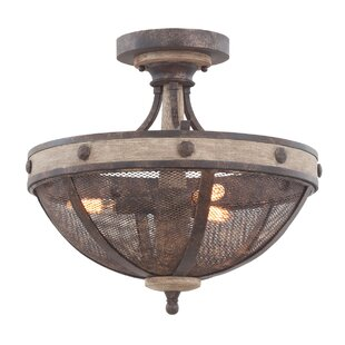Kalco Coronado 3-Light Semi Flush Mount
