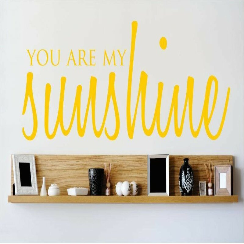 Bon You Are My Sunshine Wall Decal
