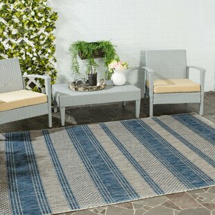 McCall Gray/Navy Indoor/Outdoor Area Rug