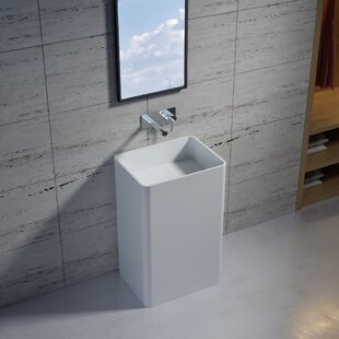 Check Prices Stone 34 Pedestal Bathroom Sink By InFurniture