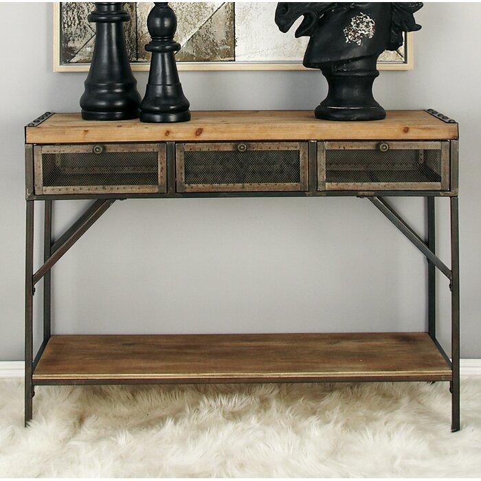 cole & grey wood metal console table & reviews | wayfair.ca