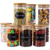 10 Piece Glass Storage Jar Set (Set of 10)