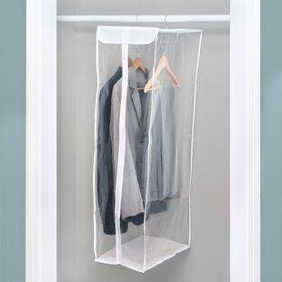 Home Basics Faux Jute Suit Dress Garment Luggage Travel Organizer Bag
