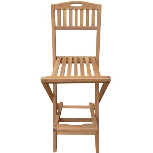 Costantino Teak Patio Bar Stool