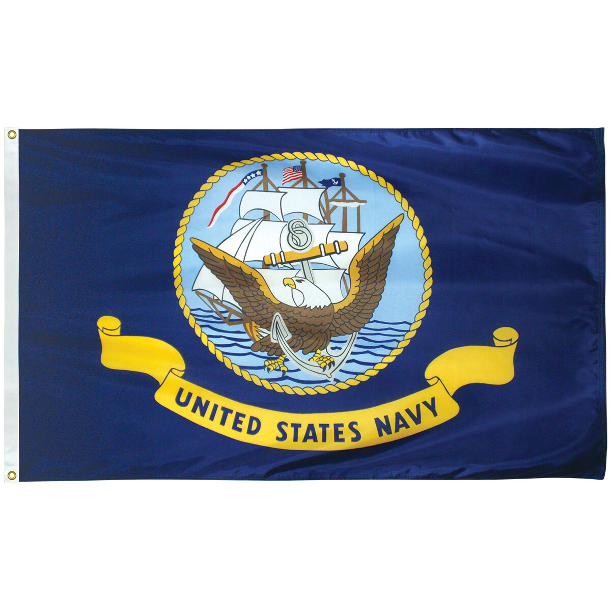 Flagpole To Go Navy Military Nylon 36 X 60 In House Flag Wayfair