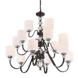 House of Hampton Christena 15-Light Shaded Chandelier