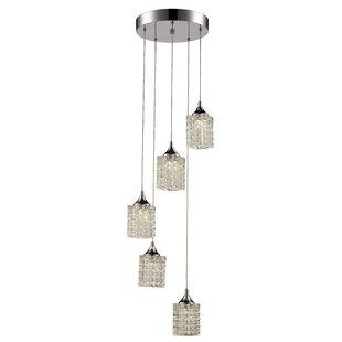 Alison 5-Light LED Cluster Pendant by House of Hampton