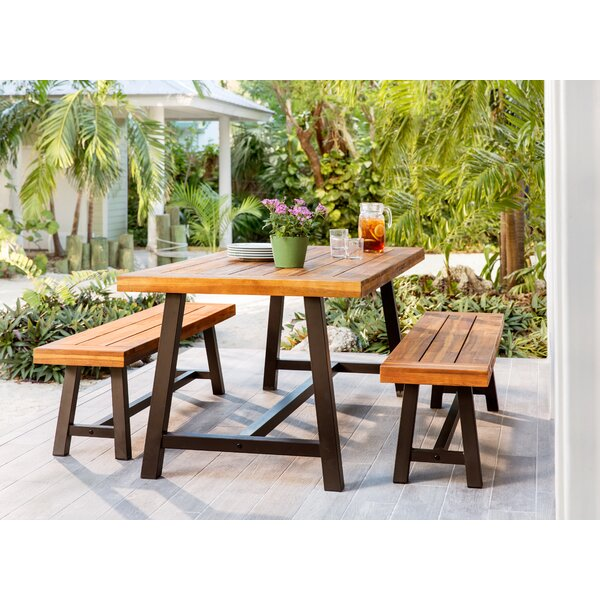 Outdoor Dining Bench Set Wayfair