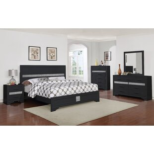 Wrought Studio Geist Queen Panel 5 Piece Bedroom Set