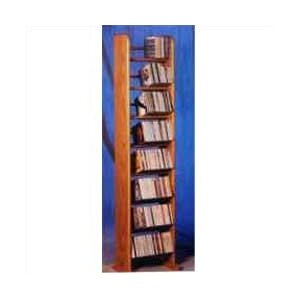 800 Series 208 CD Backless Dowel Multimedia Storage Rack by Wood Shed