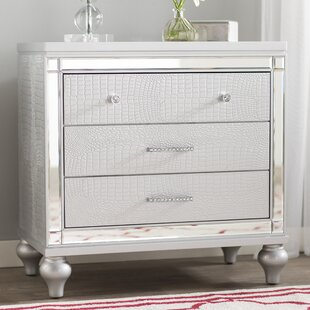 Willa Arlo Interiors Regents 3 Drawer Nightstand
