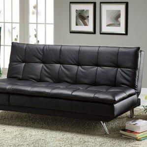 black leather sleeper sofa