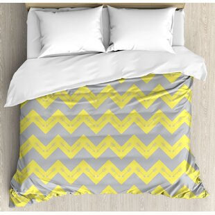 East Urban Home Chevron Zig Zag Pattern with Tribal Native American Arrows Primitive Abstract Design Duvet Set