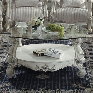 Welton Glass Top Coffee Table Astoria Grand