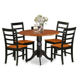 Spruill 5 Piece Drop Leaf Solid Wood Dining Set by August Grove
