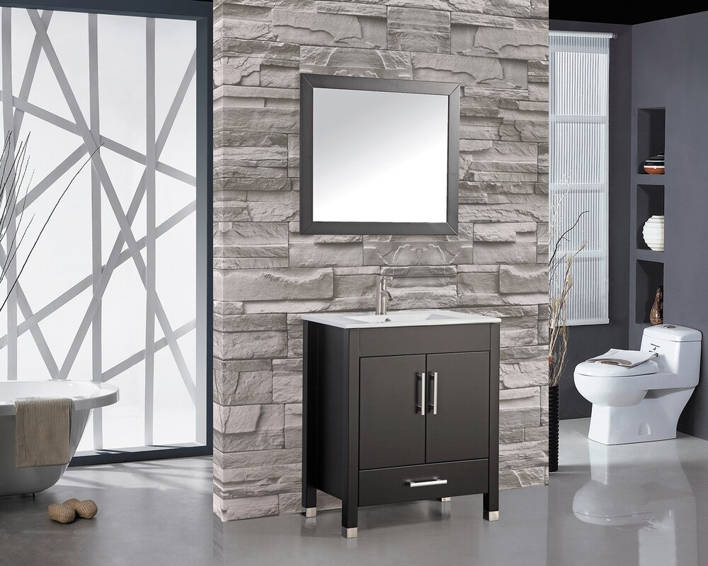 grey in blossom single milan sink s itm bathroom ebay silver vanity