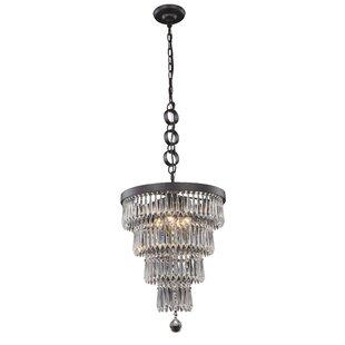 House of Hampton Roosevelt 4-Light Crystal Chandelier