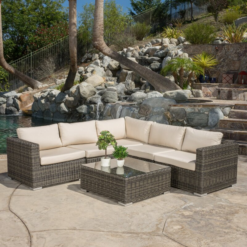 Vanbuskirk 6 Piece Seating Group With Sunbrella Cushion Part 51
