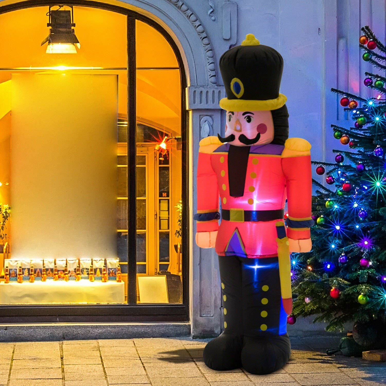 The Holiday Aisle Nutcracker Toy Soldier LED Lighted Outdoor Air Blown Christmas Inflatable & Reviews | Wayfair.ca