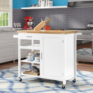 Domenique Kitchen Cart Solid Wood by Latitude Run