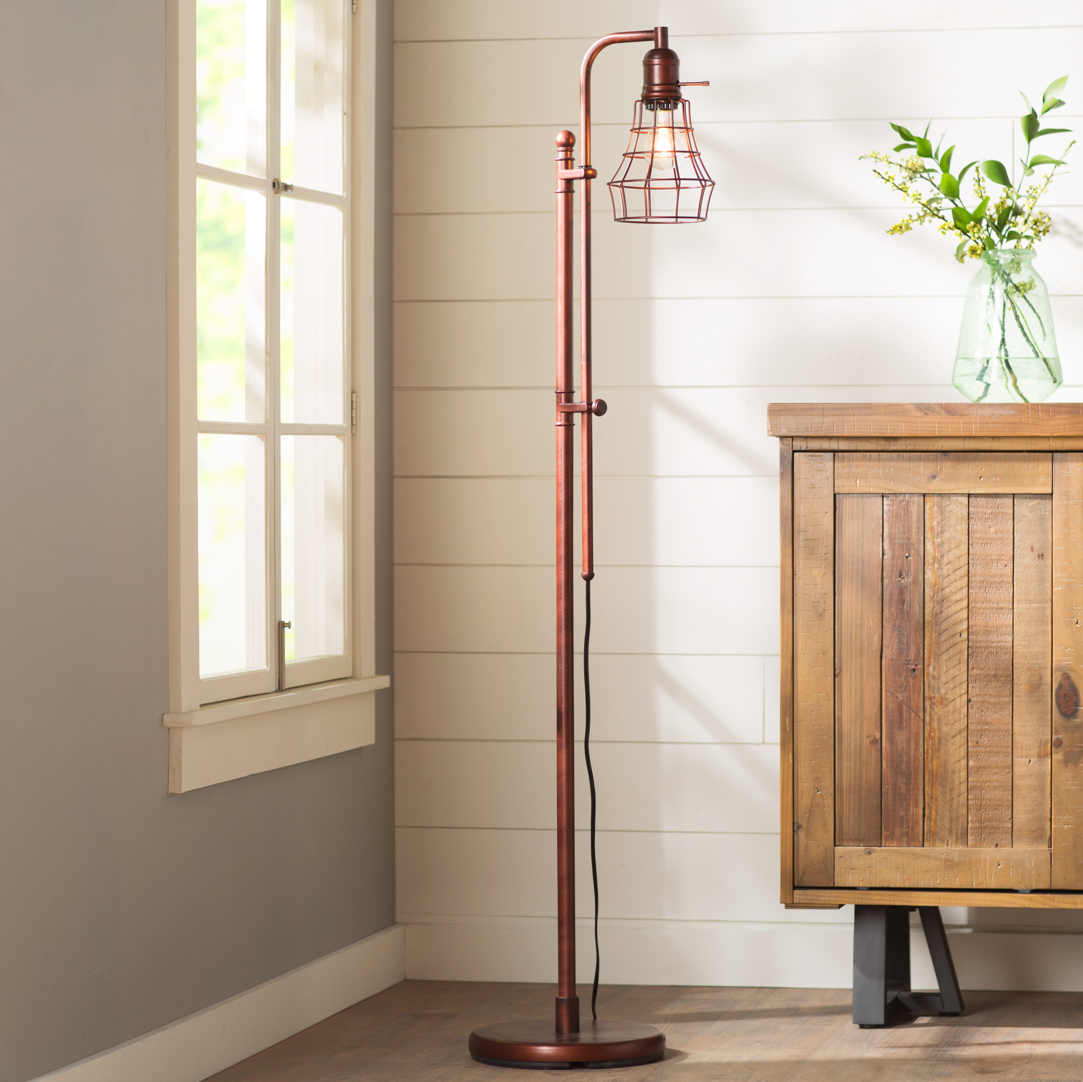 Birch lane domett led task floor lamp reviews birch lane mozeypictures Image collections