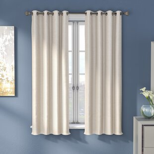 Napoleon Solid Color Room Darkening Thermal Grommet Single Curtain Panel by Mercer41