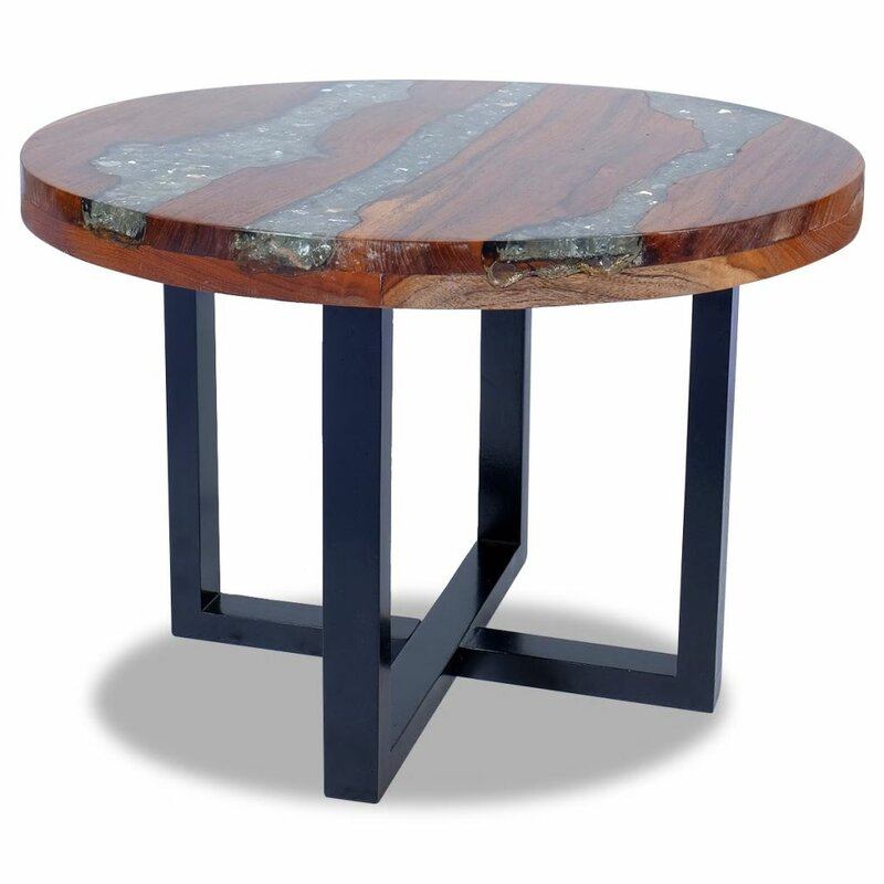 Williston Forge Narron Solid Wood Cross Legs Coffee Table