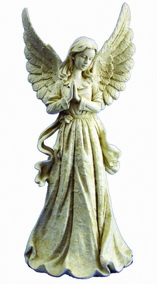 hi line gift ltd standing angel with wings up statue reviews