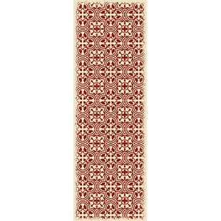 Houchens Red/White Indoor/Outdoor Area Rug
