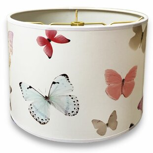 Read Reviews Butterfly Designer Hard Back 10 Paper Drum Lamp Shade By Harriet Bee