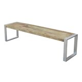 Alessia Wood Bench byMillwood Pines
