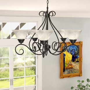 Check Prices Claycomb 5-Light Shaded Chandelier By Fleur De Lis Living