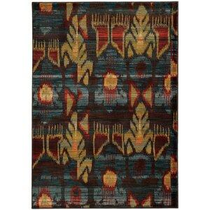 Honaz Tribal Grey/Blue Area Rug