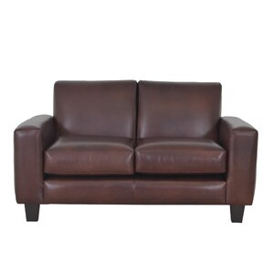Columbia Genuine Top Grain Leather Loveseat ..