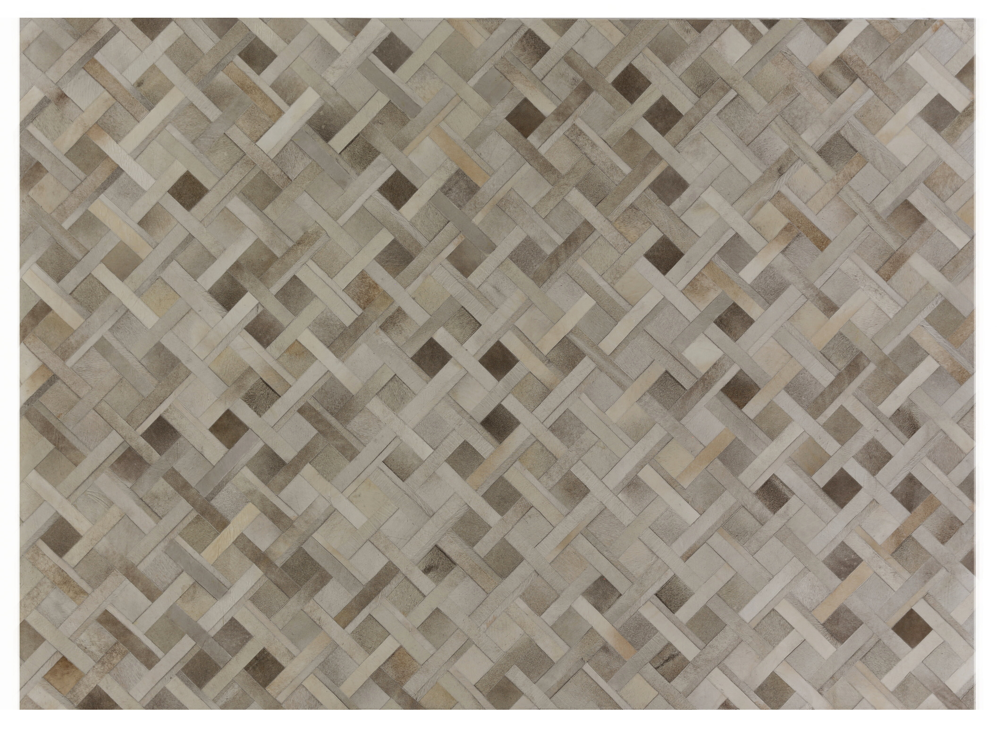 Exquisite Rugs Natural Hide Hand-Tufted Cowhide Silver