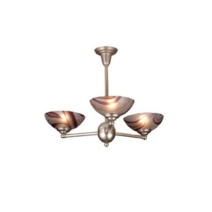 Deco Ball Chambord Swirl 3-Light Semi Flush Mount by Meyda Tiffany