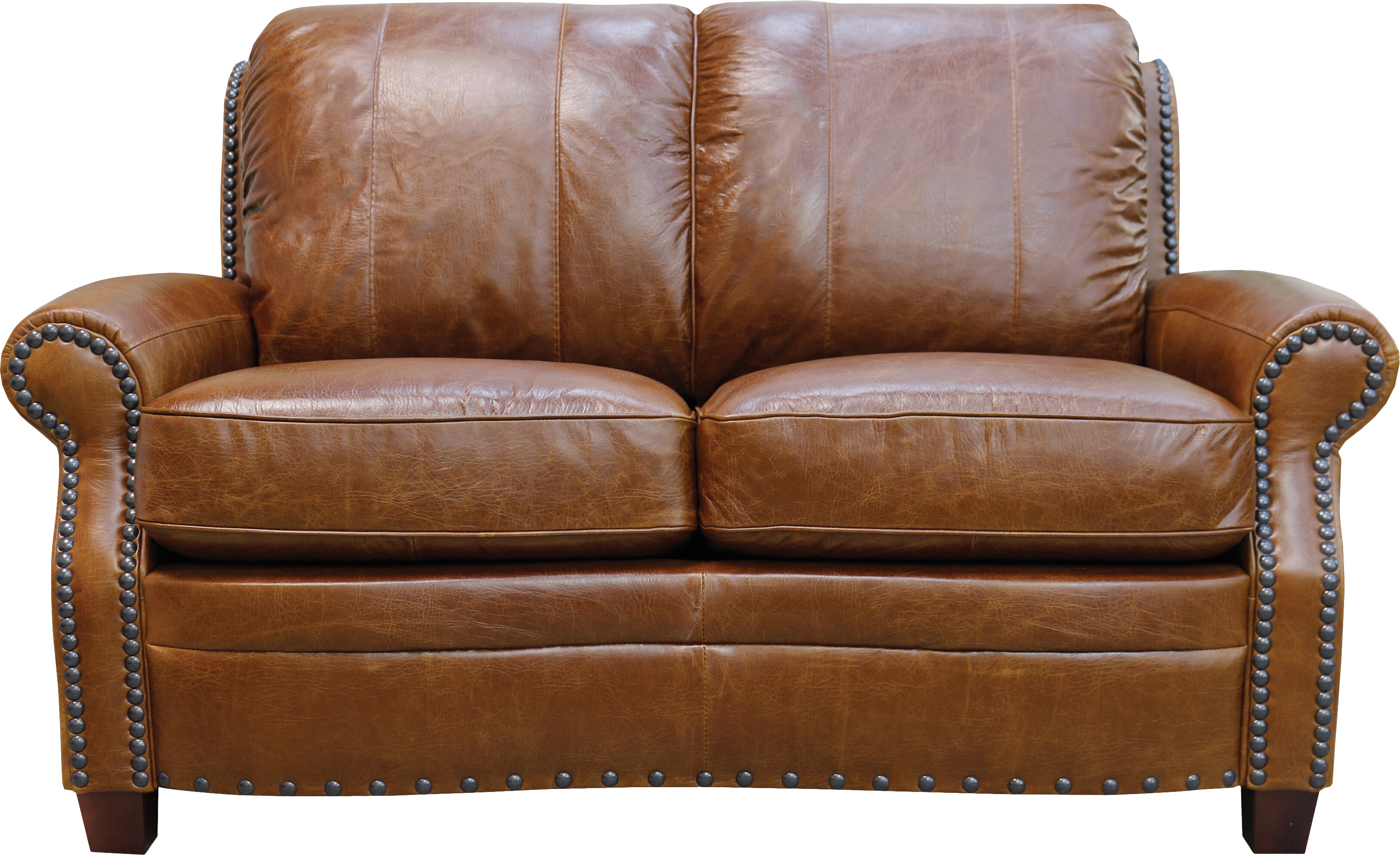 Sensational Halliburton Leather Loveseat Onthecornerstone Fun Painted Chair Ideas Images Onthecornerstoneorg