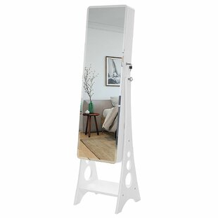 Tuley Free Standing Jewelry Armoire with Mirror