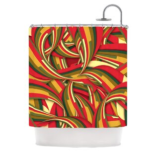 Excited Christmas By Danny Ivan Single Shower Curtain by East Urban Home Reviews