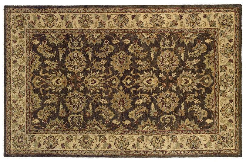 Alcott Hill Osblek Handmade Tufted Wool Dark Brown Rug Reviews Wayfair