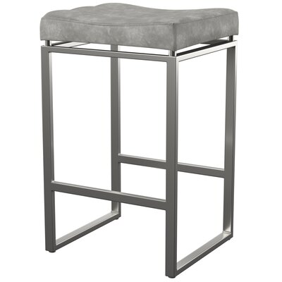 Mercury Row Westbrooks 27 Bar Stool Upholstery: Retro Gray