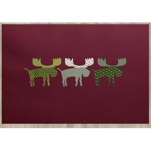 Reindeer Red Indoor/Outdoor Area Rug