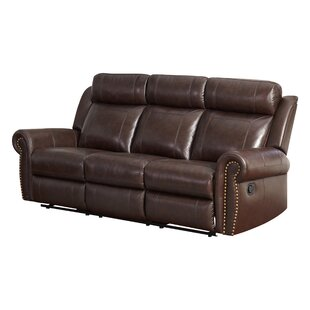Jayne Leather Reclining Sofa by Darby Home Co
