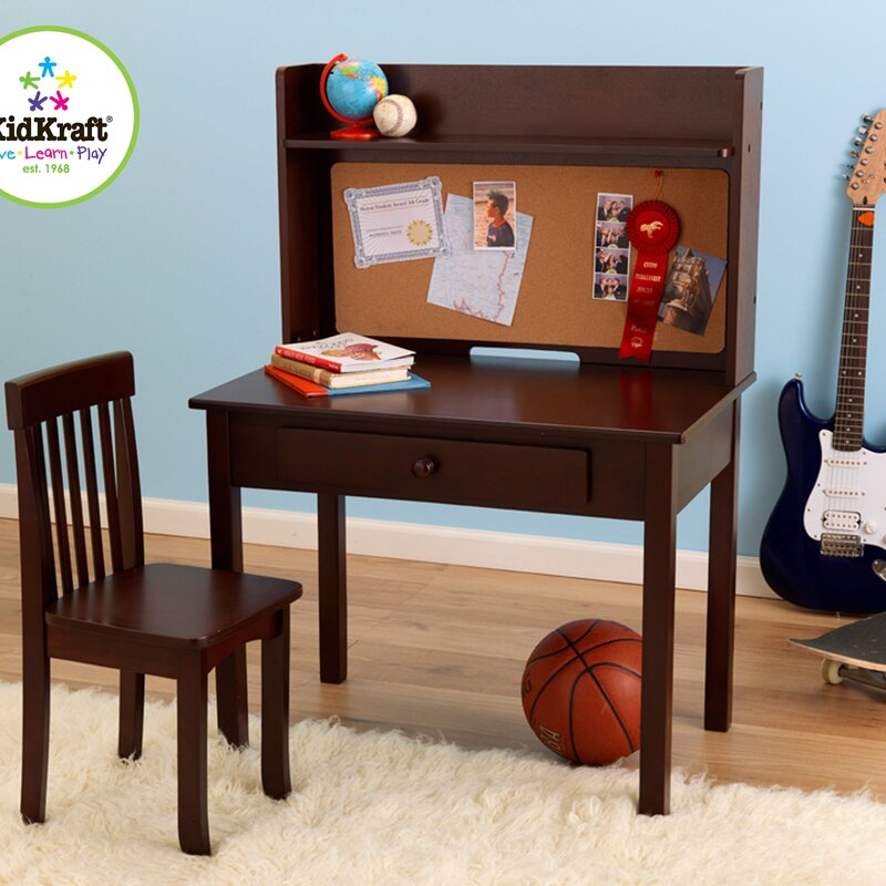 Pinboard 3 Piece 31 Writing Desk And Hutch Set