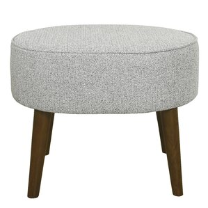 Zachary Oval Ottoman with Wood Legs by Langl..