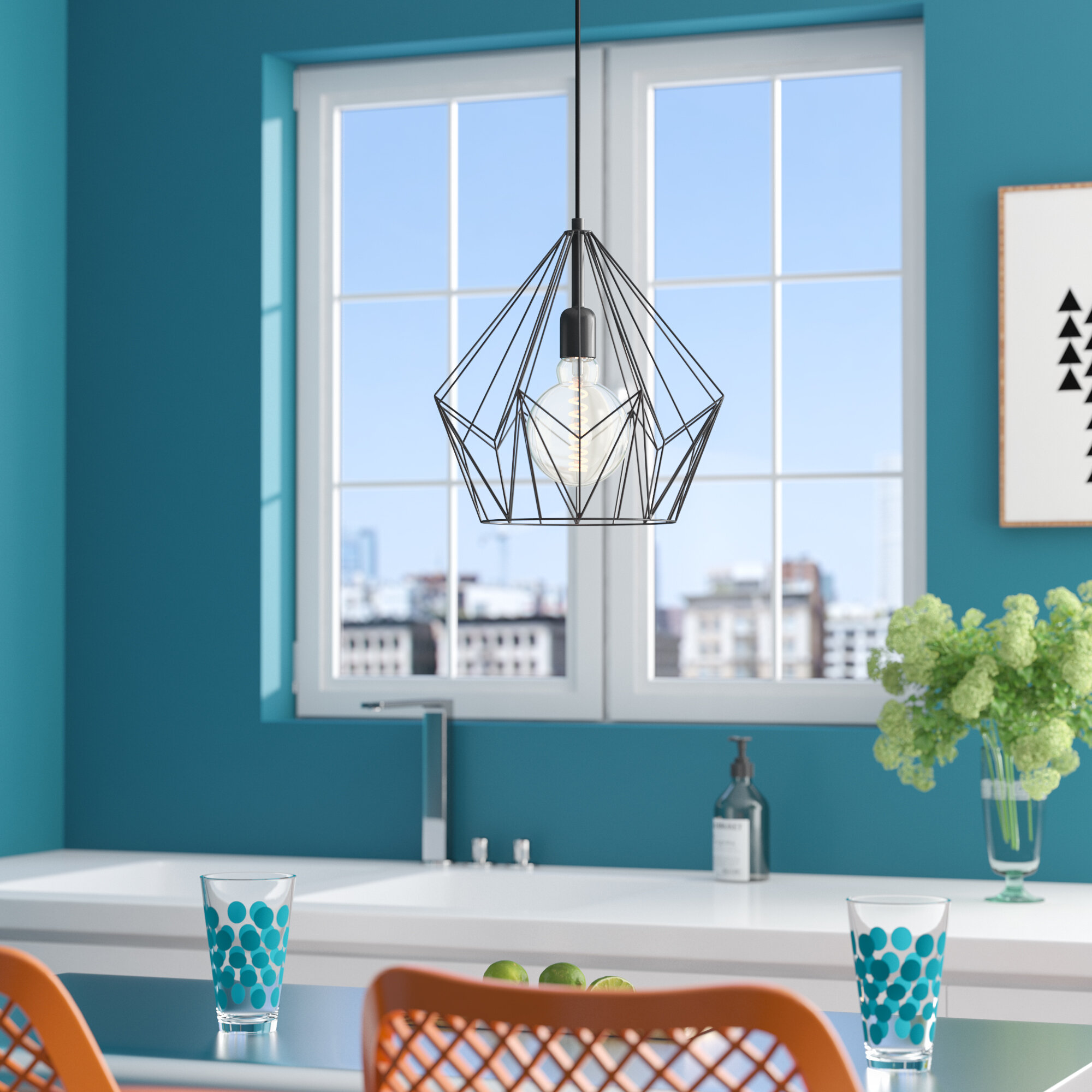 Mercury Row Carmouche 1-Light Pendant & Reviews   Wayfair
