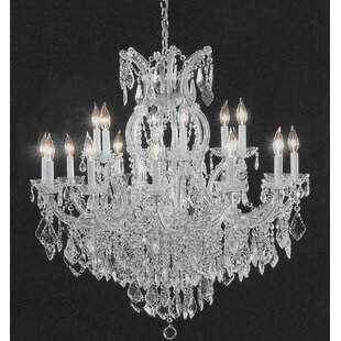 Astoria Grand Alvarado 16-Light Silver Chain Candle Style Chandelier